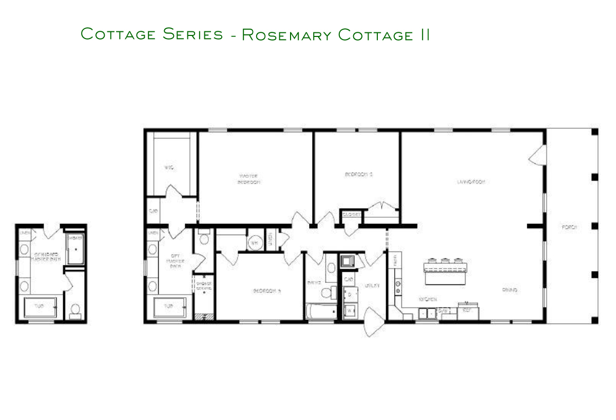 Cottage Series Rosemary II Layout