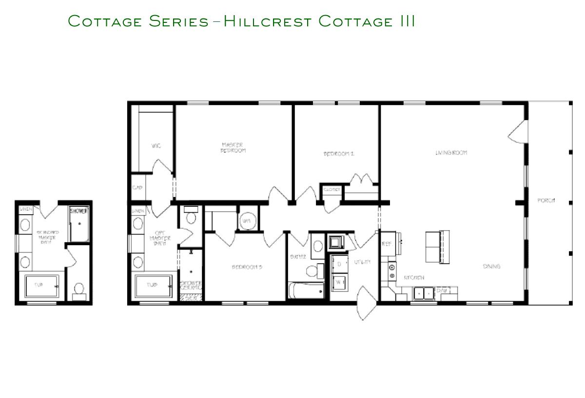 Cottage Series Hillcrest III Layout