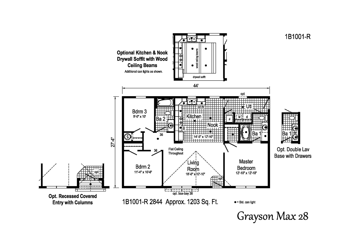 Blue Ridge MAX Grayson Max 28 1B1001-R by R-Anell Homes ...