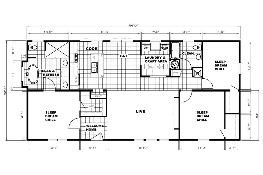 Clayton Homes Patriot / The Washington - Layout
