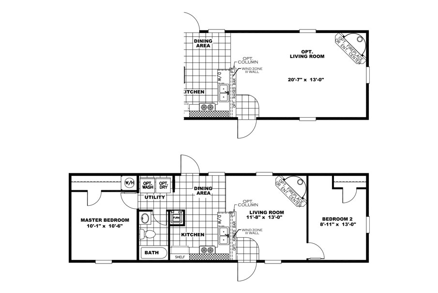 x treme35xtm14462ah layout x treme 35xtm14462ah built by clayton homes 2 beds - Clayton Homes Floor Plans 3 Bedrooms 28 Quot Width 44length