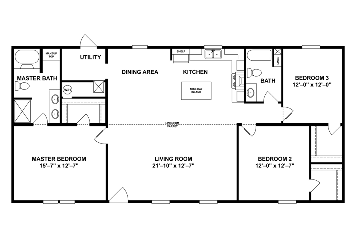 Si Pad Mobile Home Floor Plan