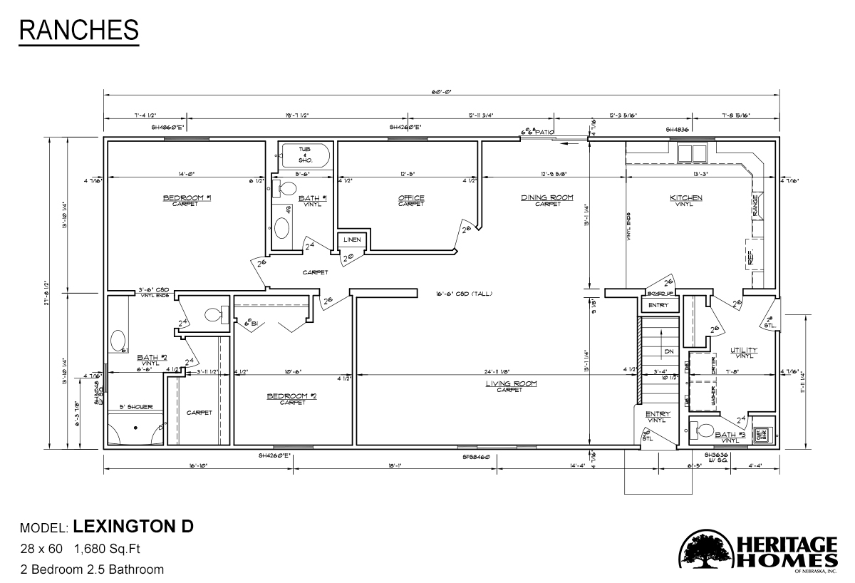 Ranch Homes / Lexington D by Heritage Homes of Neska on ranch house plans, ranch home interior, ranch home floor designs, ranch home construction plans, simple home floor plans, ranch home elevations, ranch home floor plans, ranch home design plans, ranch home pricing, ranch home drawings, simple one floor house plans, simple square house floor plans, ranch blueprints, simple ranch floor plans,