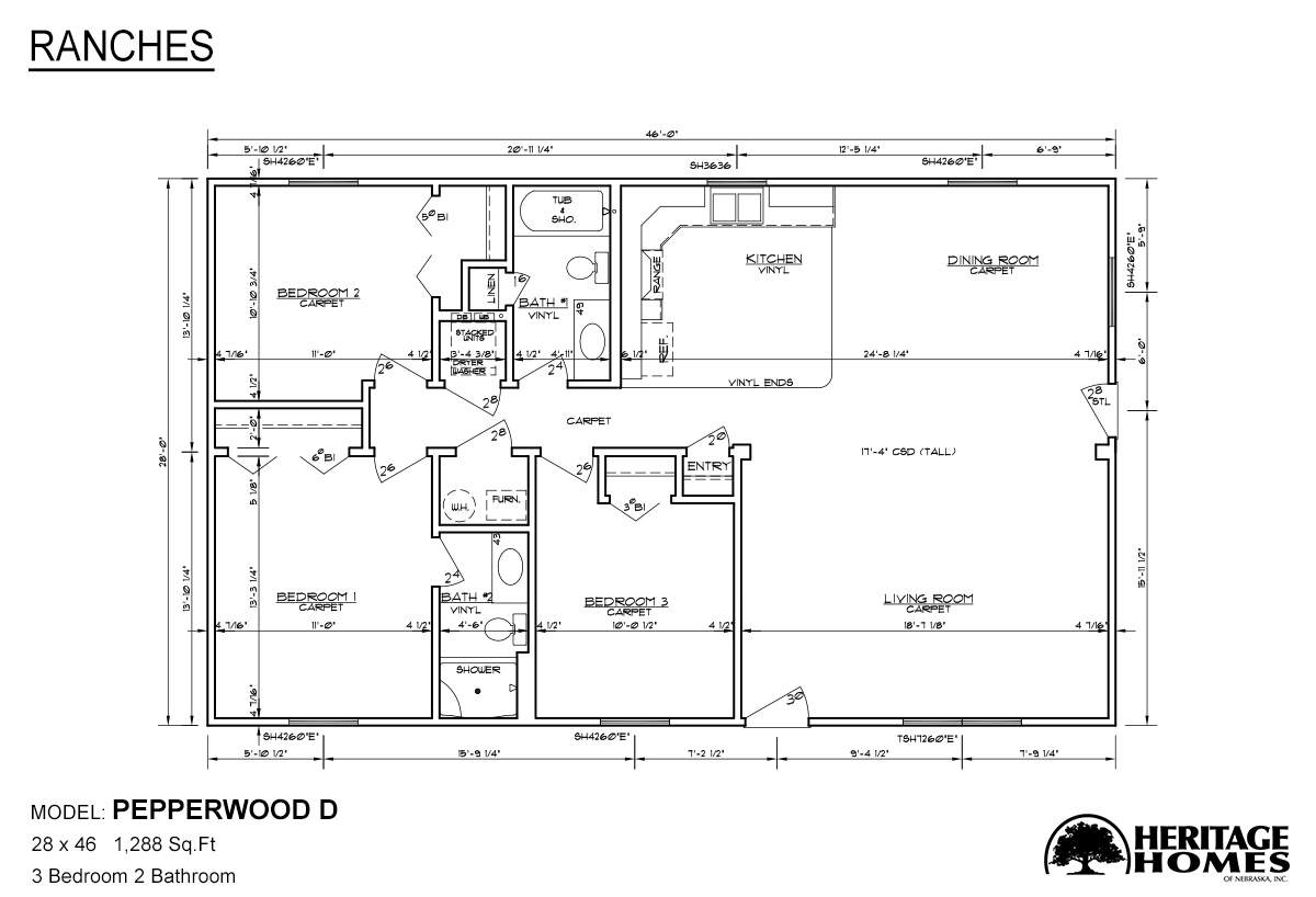 Ranch Homes Pepperwood D - Alpine Homes on ranch homes with windows, split level homes with floor plans, ranch homes with landscaping, craftsman homes with floor plans,
