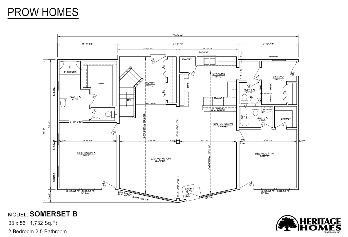 Prow homes somerset b by heritage homes of nebraska for Prow house plans