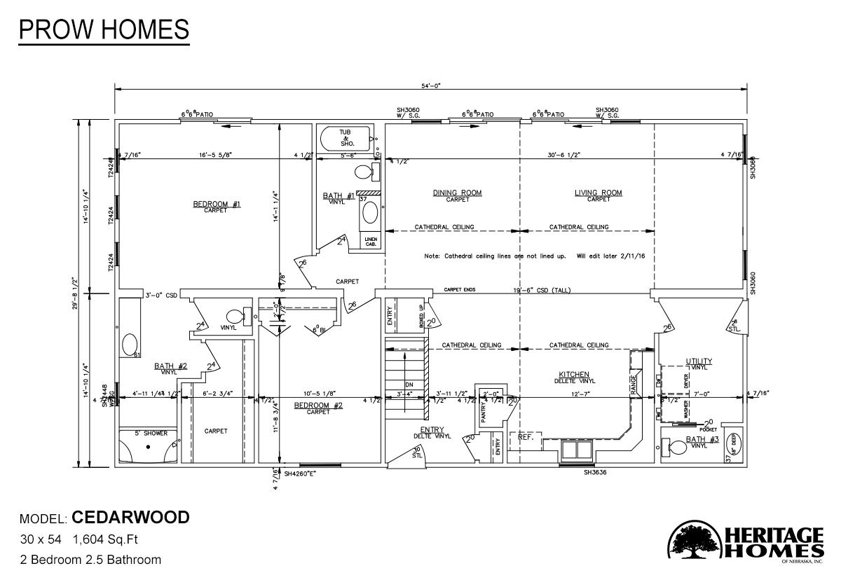 Prow Homes / Cedarwood by Heritage Homes of Nebraska