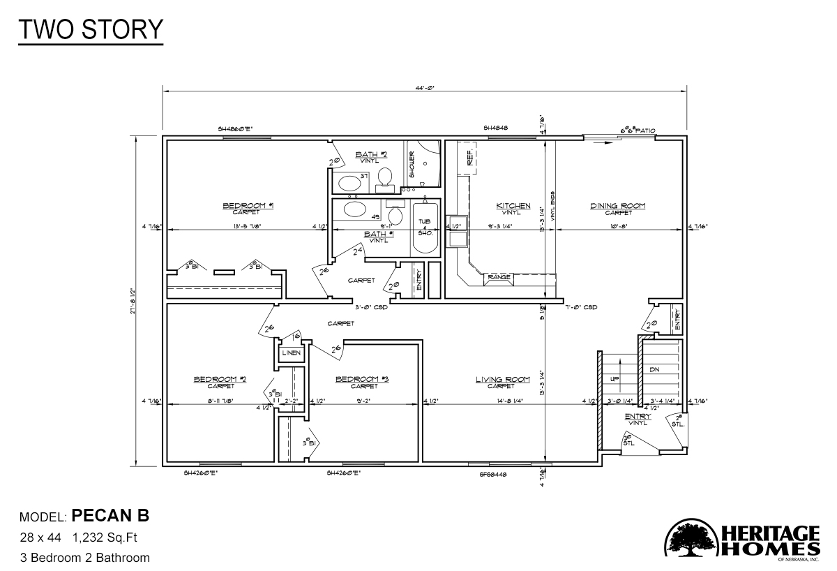 Two Story Pecan B Layout