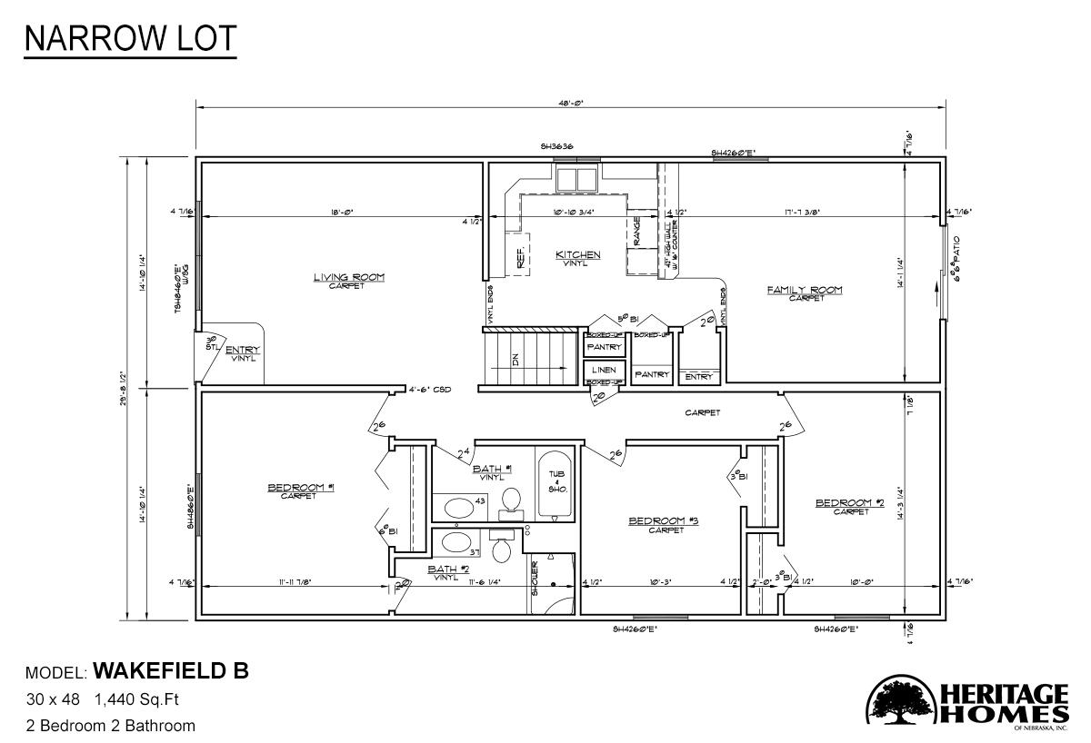 Narrow Lot Wakefield B Layout