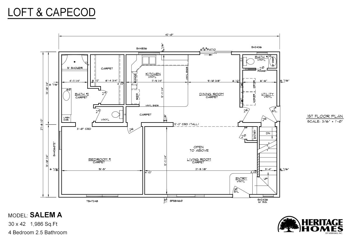 Loft and Capecod Salem A Layout