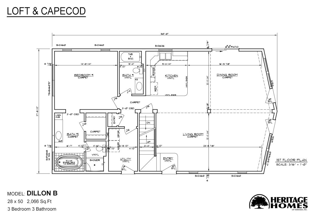 Loft and Capecod Dillon B Layout