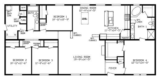 Floorplan Detail Centennial Homes Of Sioux Falls