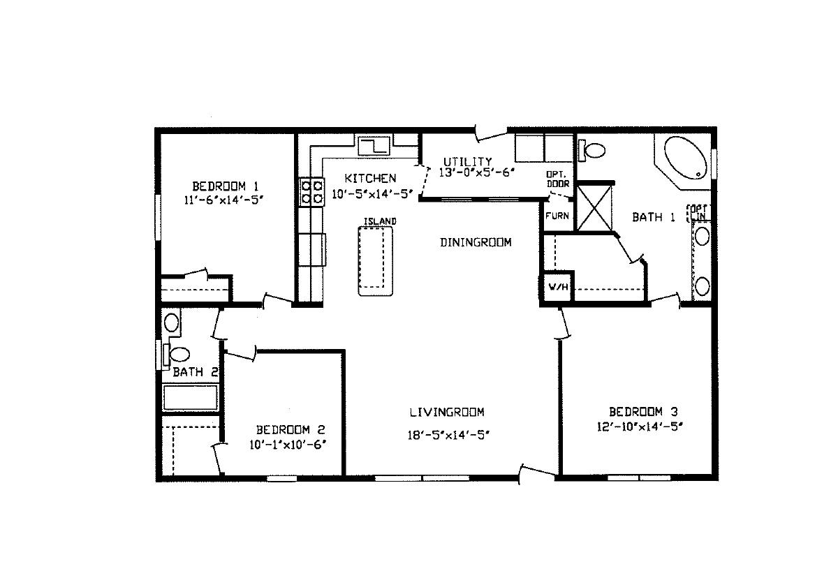 Floorplan Detail Centennial Homes Of Rapid City