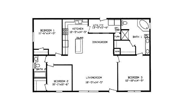 Floorplan Detail Centennial Homes Manufactured Homes