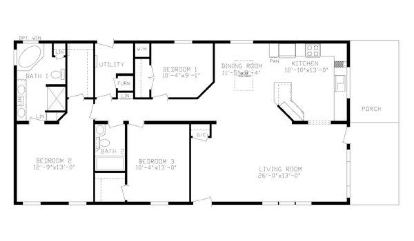Floorplan Detail Centennial Homes Of Billings