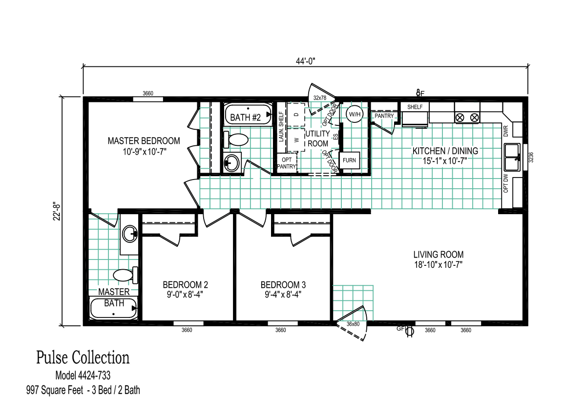 Pulse collection 4424 733 by davis homes for Davis homes floor plans