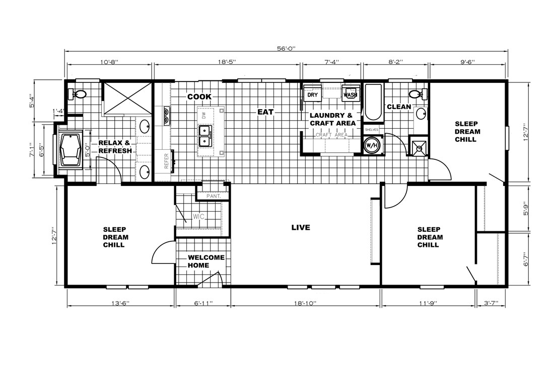 The Patriot Home / The Washington - Layout
