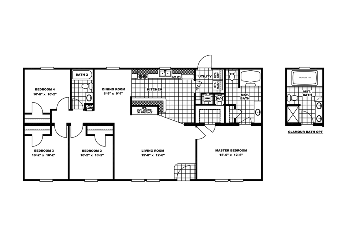 Holiday Home Builders Floor Plans: Promotional / Holiday Special 4Bdrm By Clayton Homes