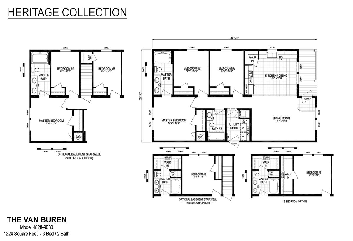 Heritage The Van Buren 4828-9030 Layout