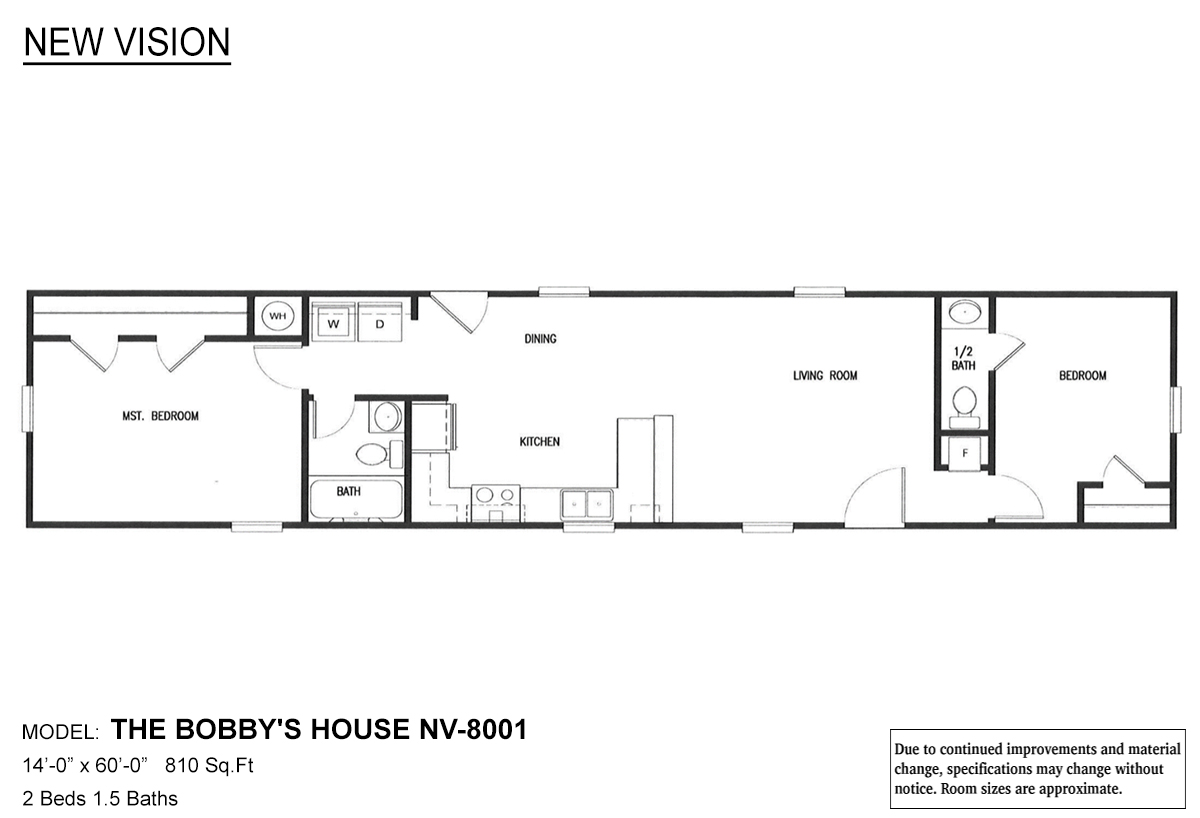 New Vision The Bobby's House Layout