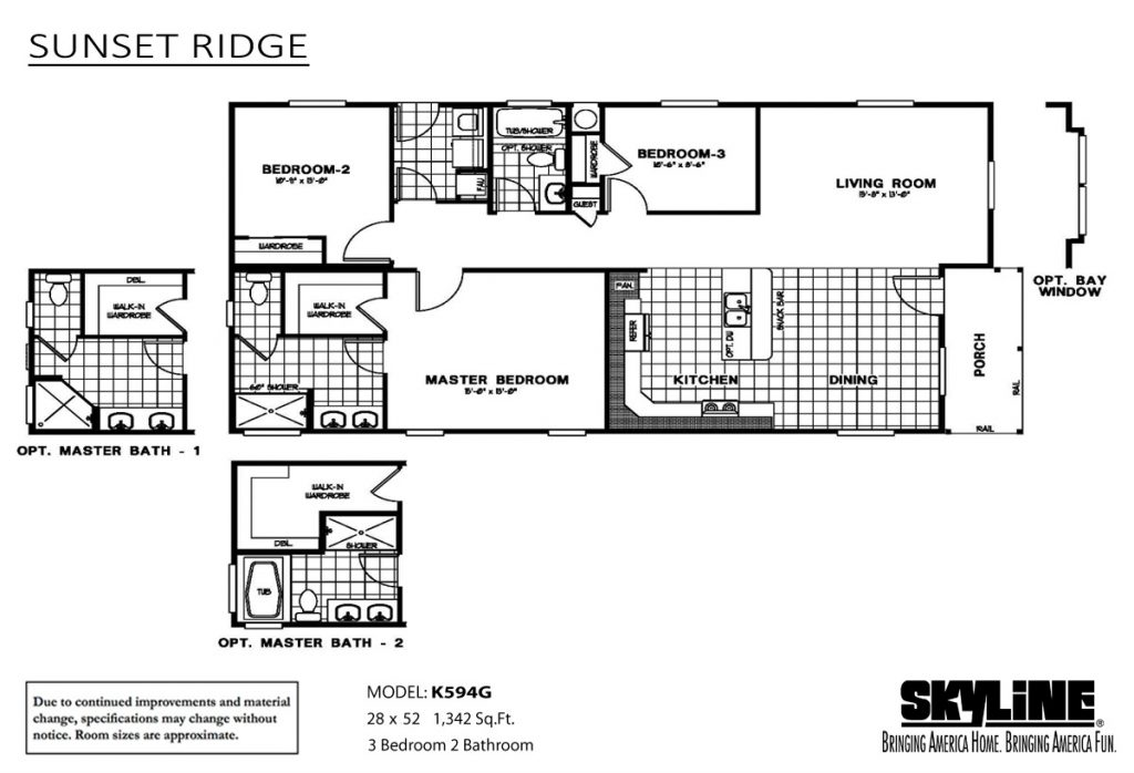 skyline homes sunset ridge K594