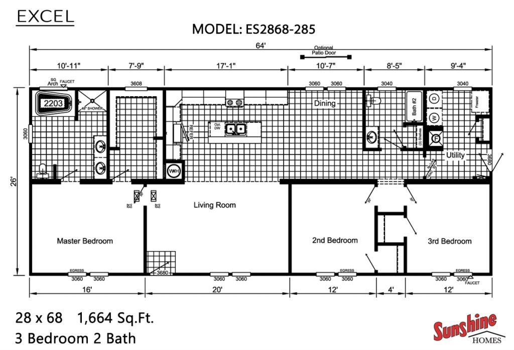 sunshine homes excel-ES2868-285