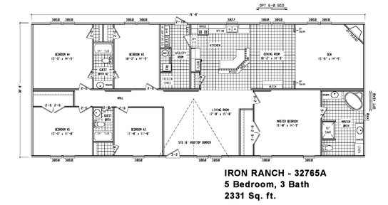 5 Bedroom 3 Bath Double Wide Floor Plans – 5 Bedroom 3 Bath Mobile Home Floor Plans