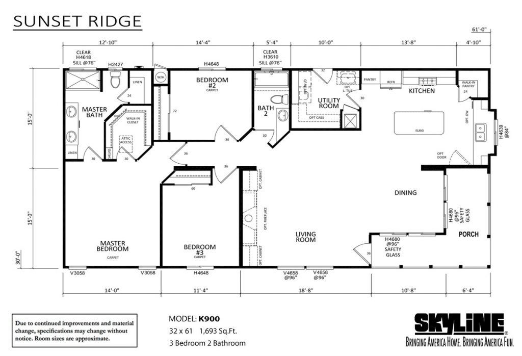 Skyline Homes Sunset Ridge K900