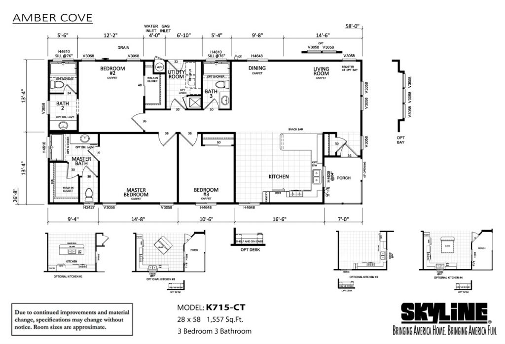 Skyline Homes Amber Cove K715CT