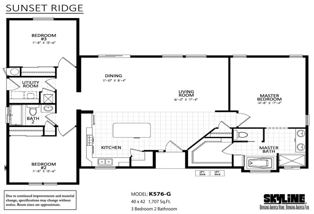 skyline homes sunset ridge k576g