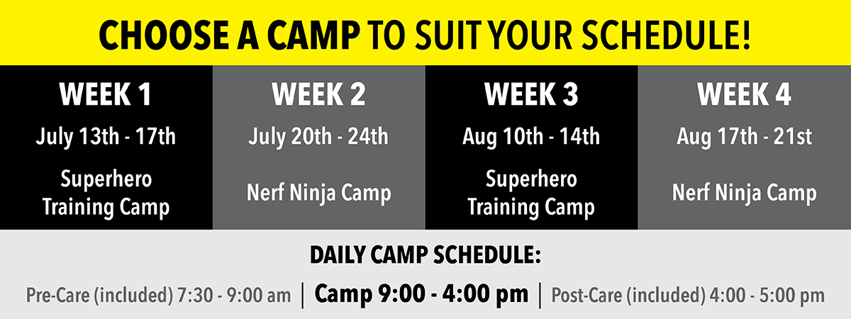 Choose a Camp to Suit Your Schedule