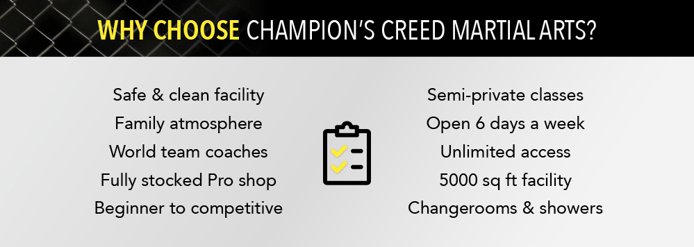 Why Muay Thai and BJJ at Champion's Creed