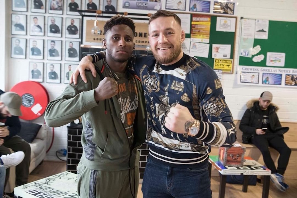 Hakeem and Conor McGregor in SBG MMA Training Ireland before his UFC debut.