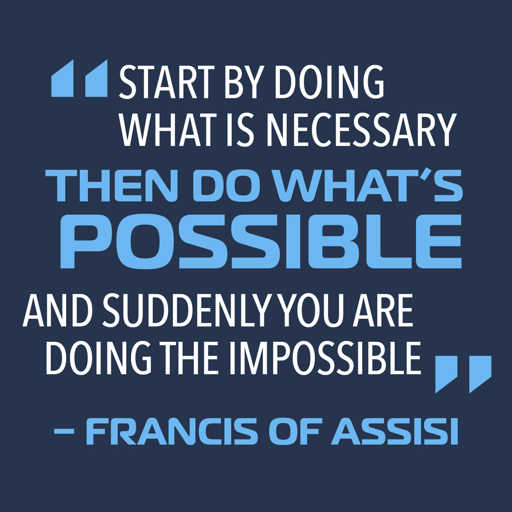Start by doing