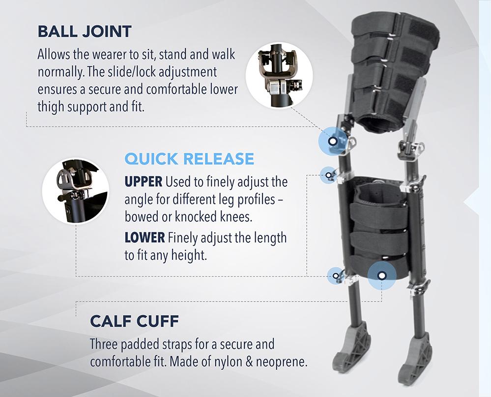 Ball Joint Quick Release Calf Cuff