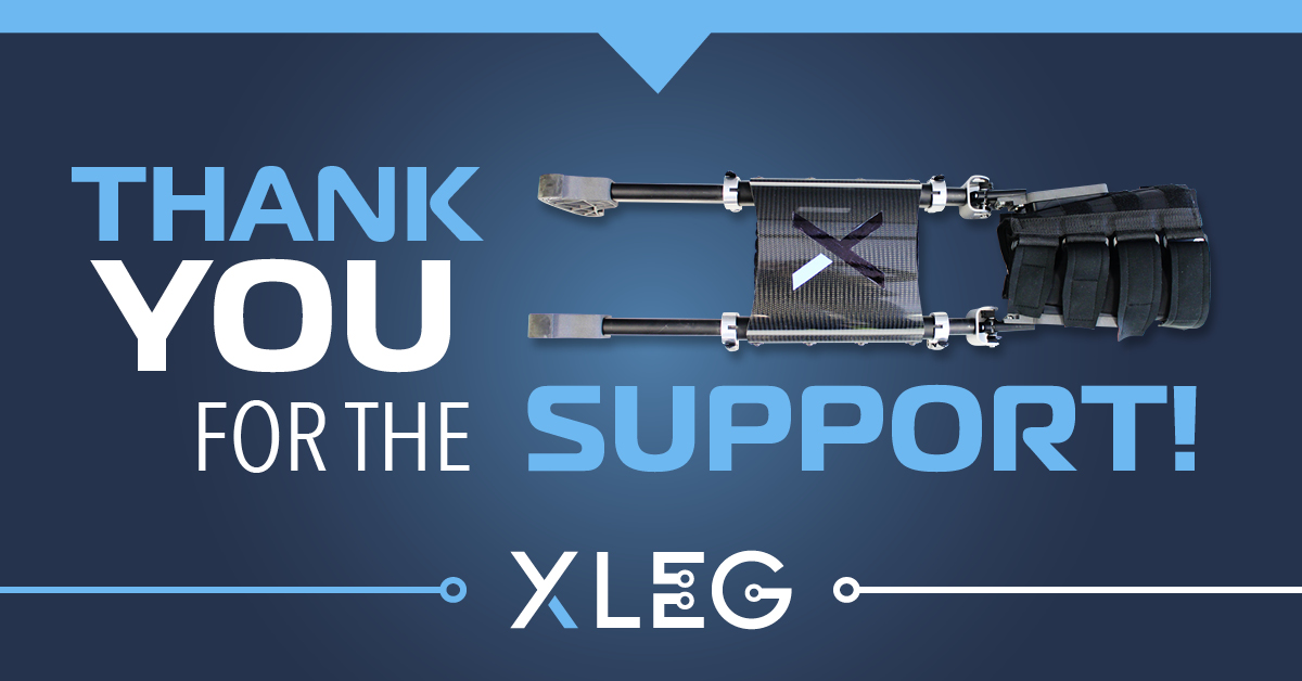 Thank you everyone who supported the XLEG Kickstarter Campaign