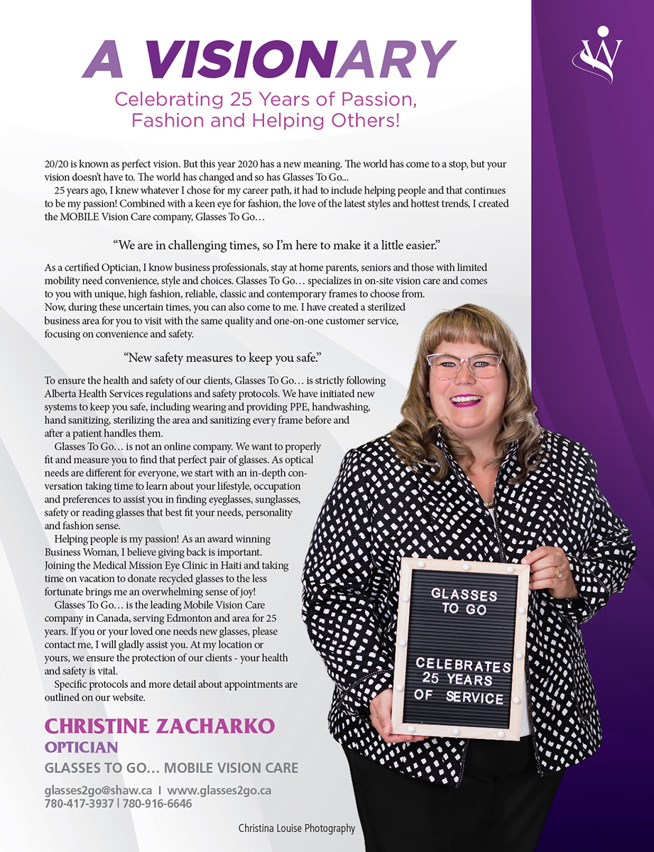 Christine Zacharko Womanition Magazine 2020 Womanition Community Calgary Edmonton Alberta