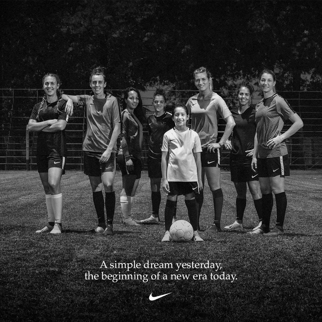 @ Nikefootball: This is not just a team playing in La Bombonera. It is a nation seeing what's possible. Today, the @bocajrsoficial women's team is playing in Argentina's greatest stadium for the first time in history, breaking yet another barrier for women in football. It's only crazy until you do it. #JustDoIt