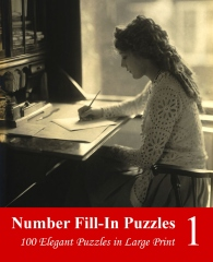 Number Fill-In Puzzles in Large Print