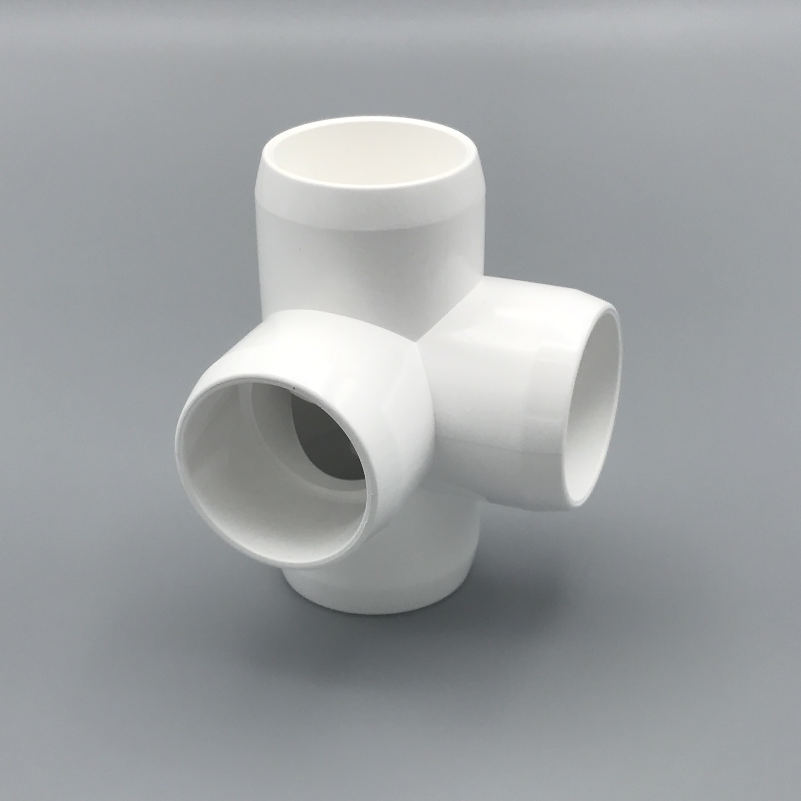 Quot inch way tee pvc fitting connector elbow pack