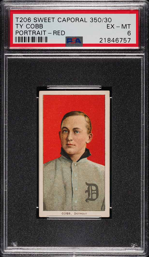 1909 T206 Ty Cobb PORTRAIT-RED PSA 6 EXMT