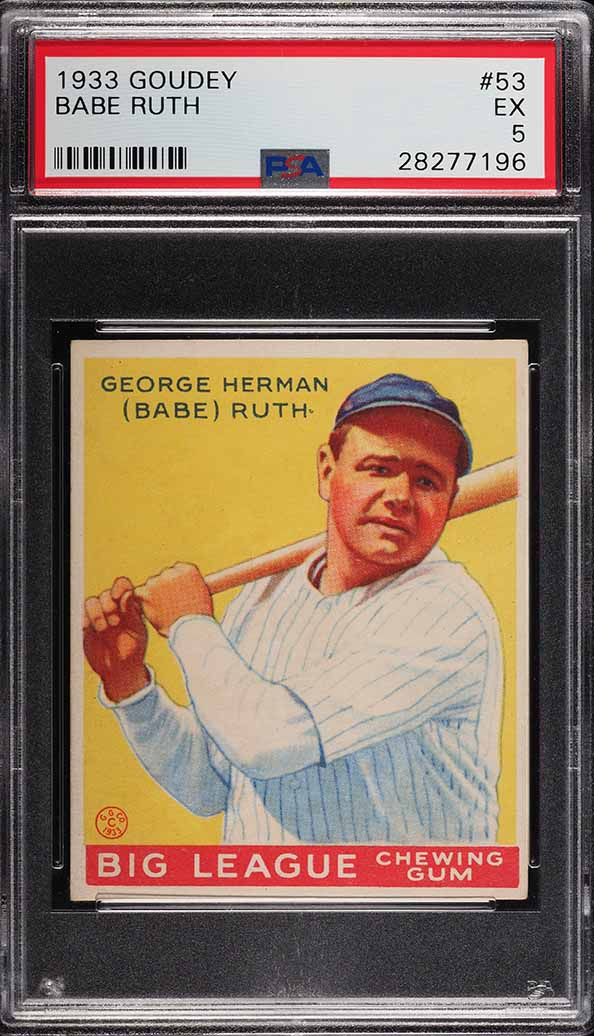 1933 Goudey Babe Ruth #53 PSA 5 EX