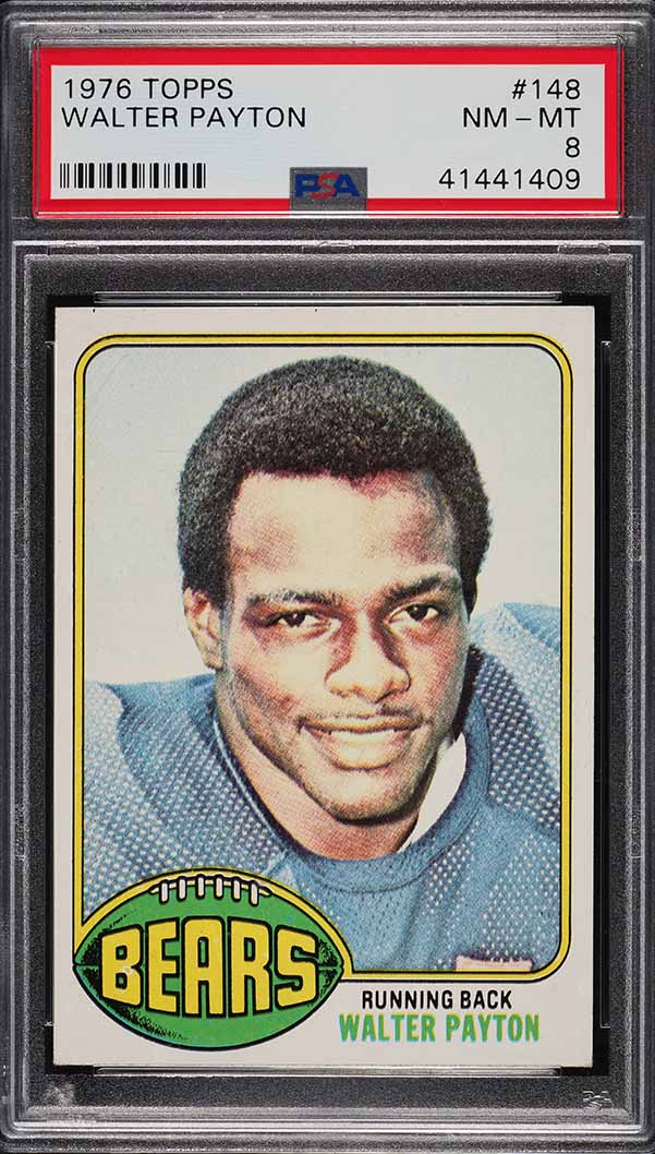 1976 Topps Football Walter Payton ROOKIE RC #148 PSA 8 NM-MT