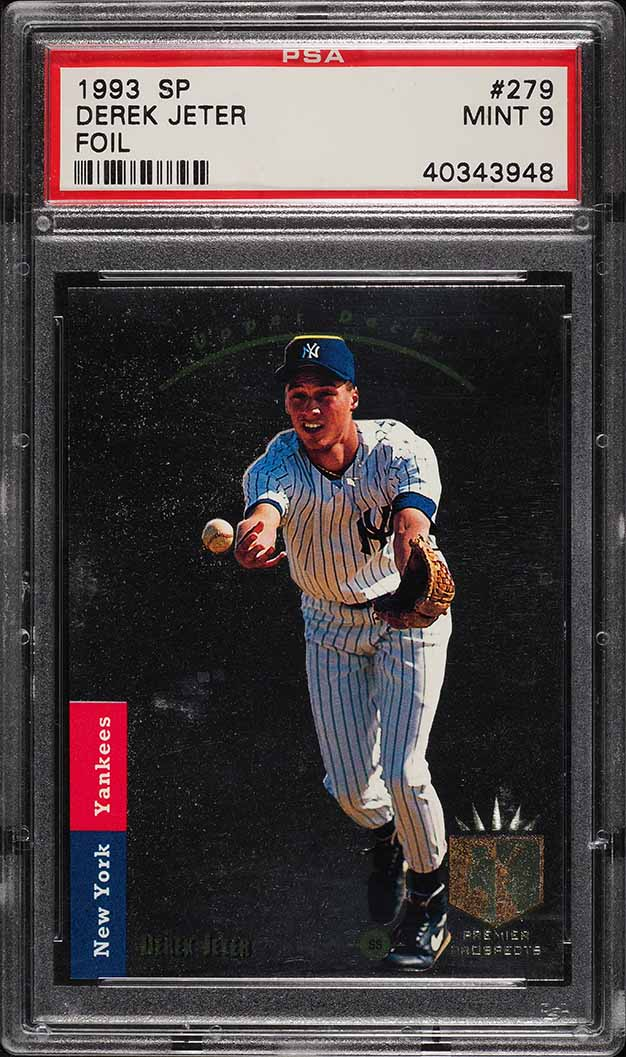 1993 Sp Foil Derek Jeter ROOKIE RC #279 PSA 9 MINT