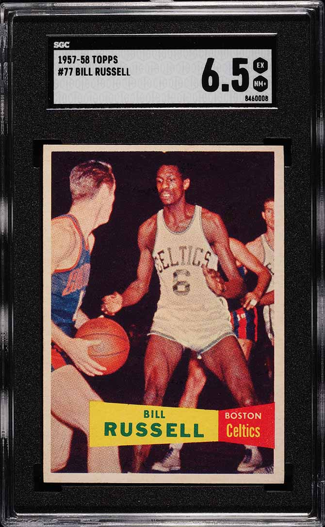 1957 Topps Bill Russell ROOKIE RC #77 SGC 6.5 EX-NM+