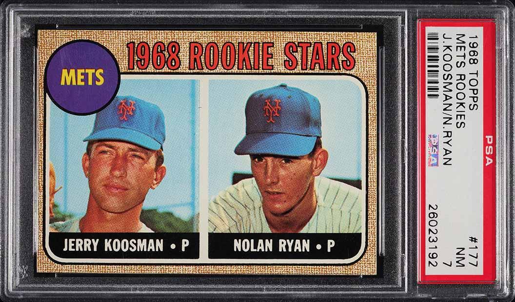 1968 Topps Mets Rookies Nolan Ryan ROOKIE RC #177 PSA 7 NRMT