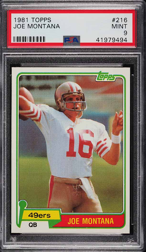 1981 Topps Joe Montana ROOKIE RC #216 PSA 9 MINT