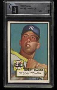 Image of: 1952 Topps Mickey Mantle #311 GAI 7 NRMT (PWCC)