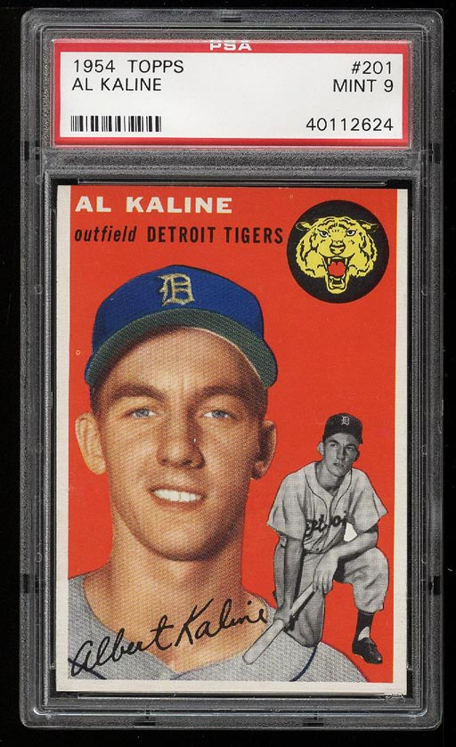 Image of: 1954 Topps Al Kaline ROOKIE RC #201 PSA 9 MINT (PWCC)