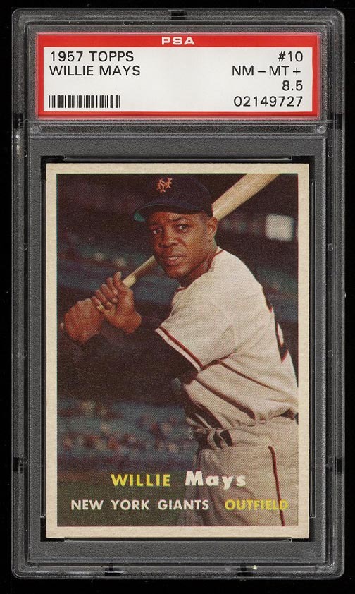 Image of: 1957 Topps Willie Mays #10 PSA 8.5 NM-MT+ (PWCC)
