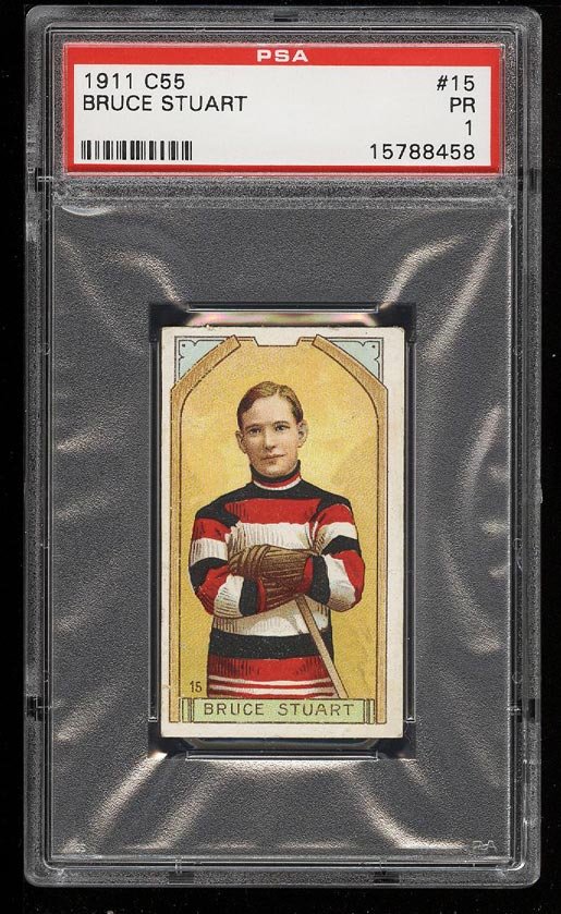 Image of: 1911 C55 Hockey Bruce Stuart #15 PSA 1 PR (PWCC)